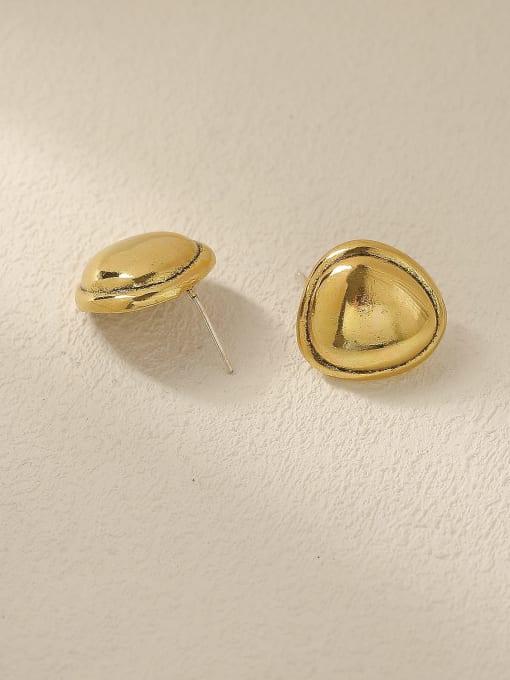 HYACINTH Brass Smooth Triangle Minimalist Stud Trend Korean Fashion Earring 3
