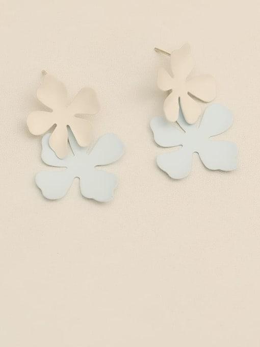 HYACINTH Brass smooth Flower Minimalist Drop Earring 1