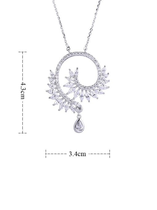 YILLIN Alloy Cubic Zirconia Heart Statement Necklace 1