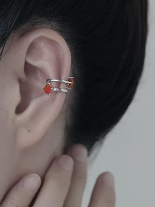 TINGS Brass Cubic Zirconia Geometric Minimalist Single Earring 1