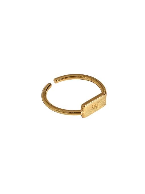 HYACINTH Brass Geometric Vintage Band Ring 4