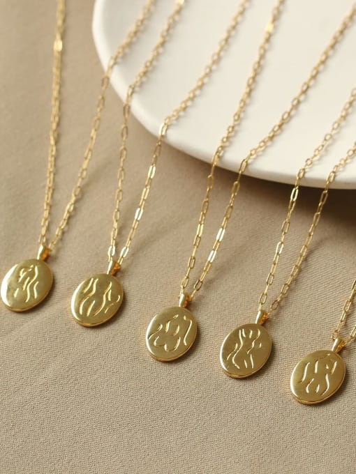 ACCA Brass Geometric Vintage Fashion abstract Human body Pendant Necklace 4