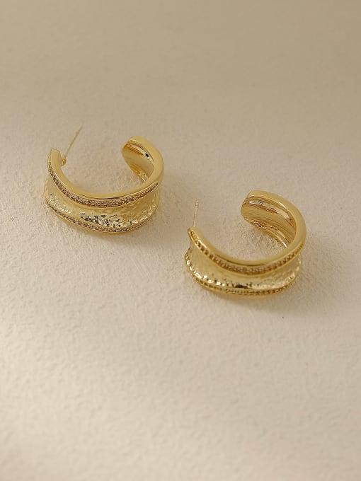 HYACINTH Brass Geometric Vintage Stud Earring 3