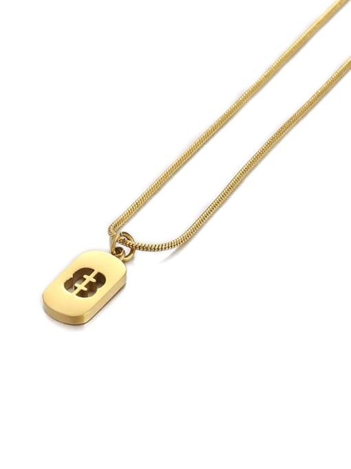 Number 8 Titanium Steel Number Minimalist Pendant Necklace