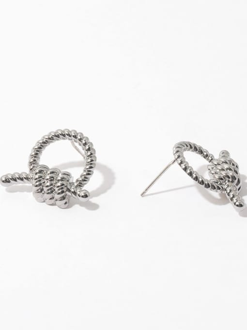Knot Earrings Brass Knot Geometric Vintage Stud Earring