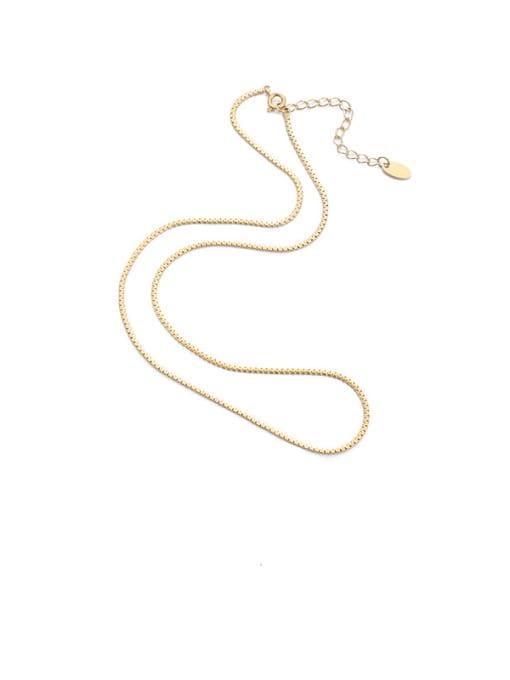 Snake bone chain Titanium Steel Locket Minimalist Geometric  Pendant Necklace