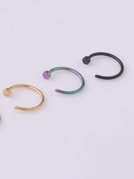 HISON Stainless steel Geometric Minimalist Nose Rings 2