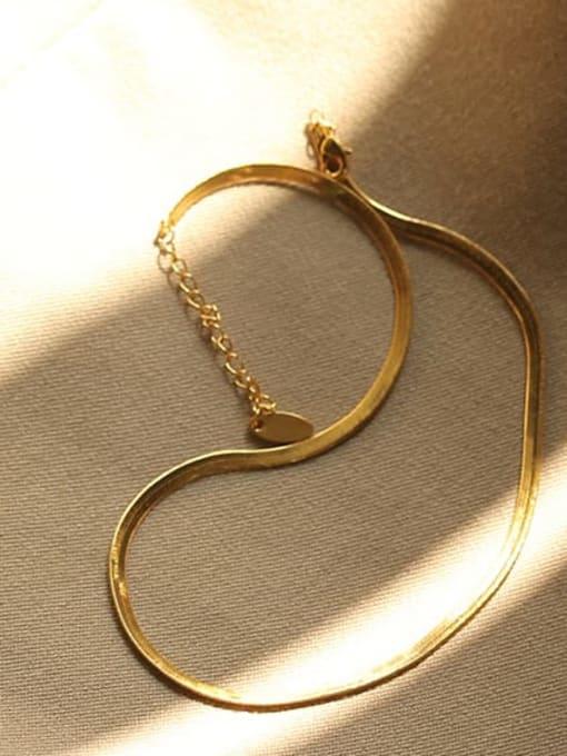 ACCA Brass Freshwater Pearl Geometric Minimalist Necklace 3