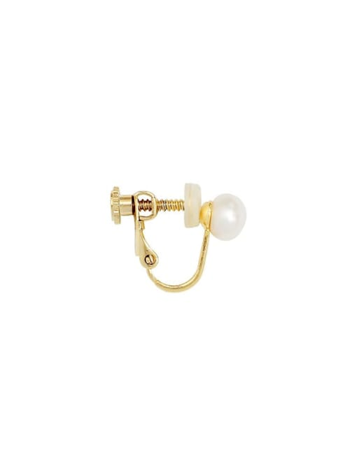 HYACINTH Brass Imitation Pearl Geometric Ethnic Clip Earring 4