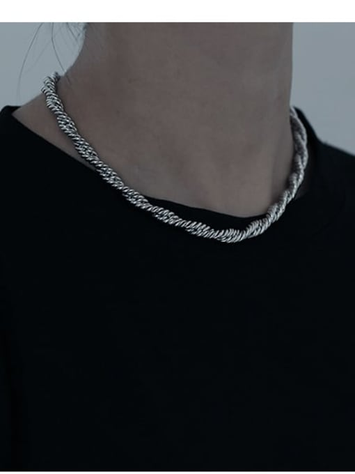 TINGS Brass Hemp rope twist chain Hip Hop Necklace 2