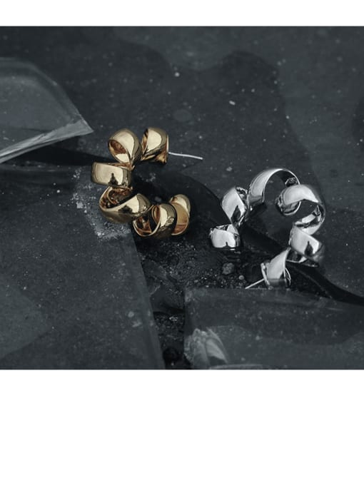 TINGS Brass Geometric Vintage Single Earring