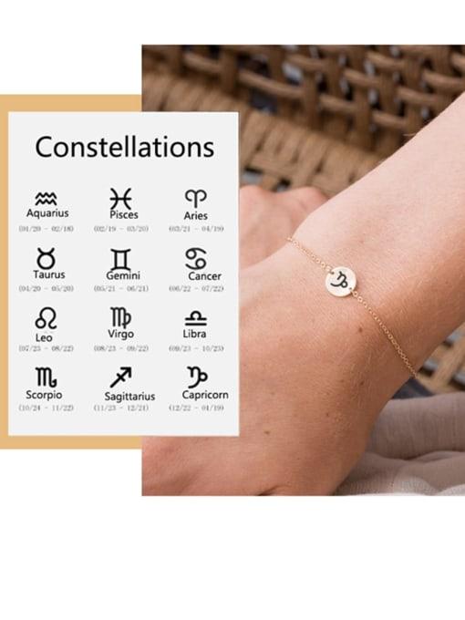 Desoto Stainless steel Constellation Minimalist Link Bracelet