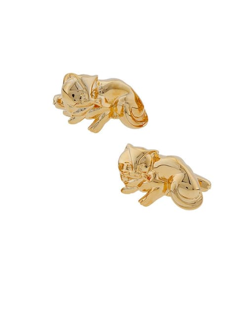 ThreeLink Brass Animal Vintage Cuff Link 2