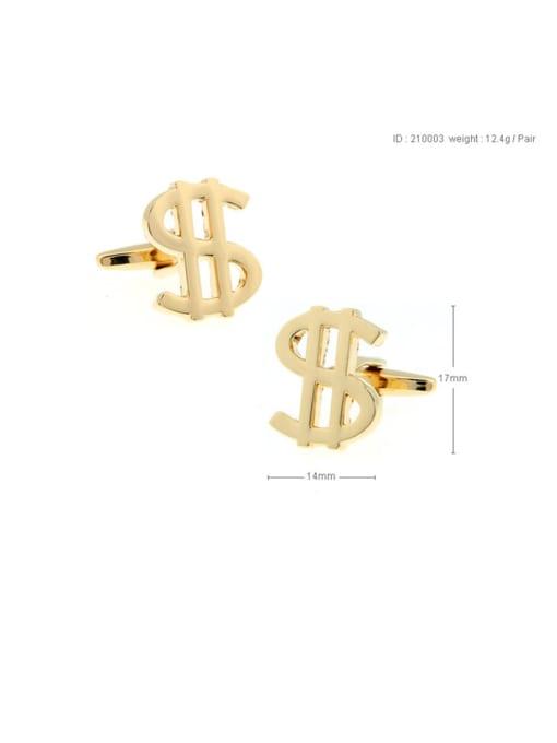 ThreeLink Brass Letter Vintage Cuff Link 3