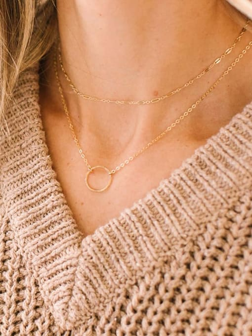 Desoto Stainless steel Round Minimalist Multi Strand Necklace 1
