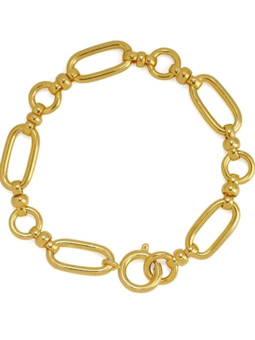 ACCA Brass Hollow Geometric  Chain Vintage Link Bracelet 3