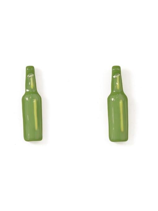 Five Color Alloy Enamel Geometric Minimalist  Wine bottle Stud Earring 4