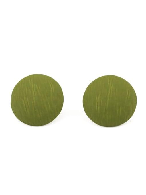 Five Color Alloy Enamel Round Cute Stud Earring