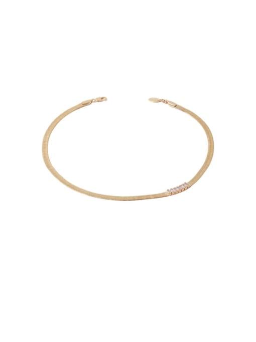 TINGS Brass Cubic Zirconia Geometric Minimalist Necklace 0
