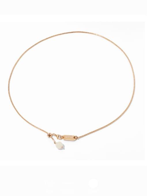 TINGS Brass Geometric Minimalist Necklace