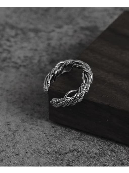 TINGS Brass Line Wrapping Hip Hop Band Ring 0