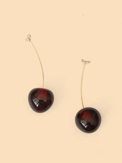 Five Color Alloy Friut Minimalist Earring