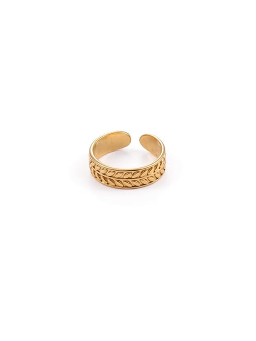 6 (adjustable opening) Brass Hollow Geometric Vintage Band Ring