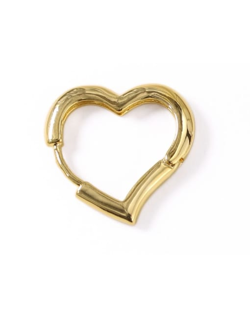 ACCA Brass Hollow Heart Minimalist Stud Earring 2