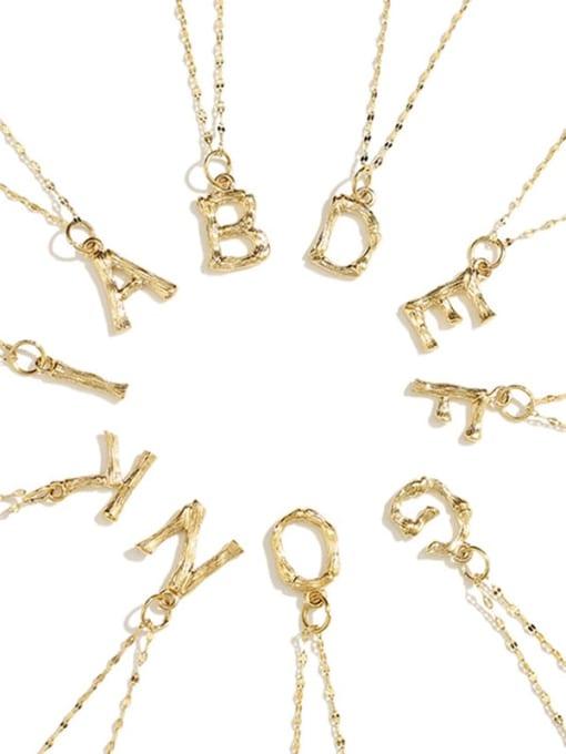 Desoto Titanium Steel Letter Minimalist Necklace 0