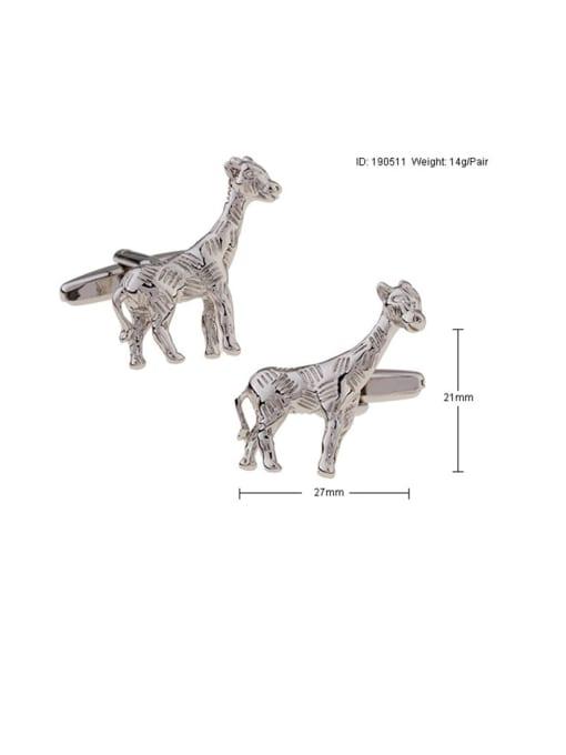 ThreeLink Brass Deer Vintage Cuff Link 2