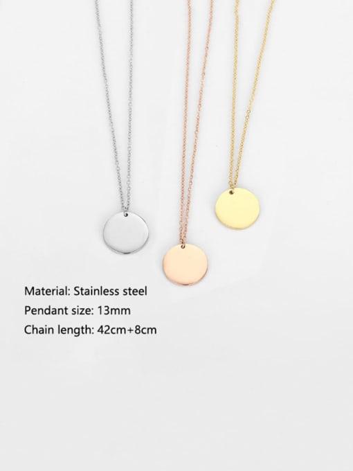Desoto Stainless steel Minimalist Geometric  Pendant Multi Strand Necklace 2