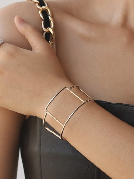 ACCA Brass  Vintage Geometric chain vintage twist  Cuff Bangle 1