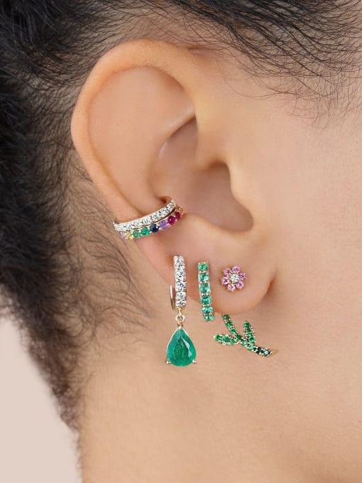 COLSW Brass Cubic Zirconia Water Drop Minimalist Drop Earring 1