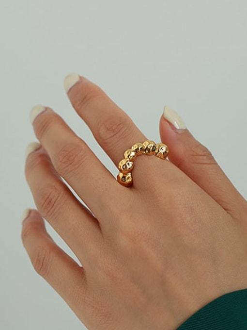 ACCA Brass Irregular Vintage Band Ring 1