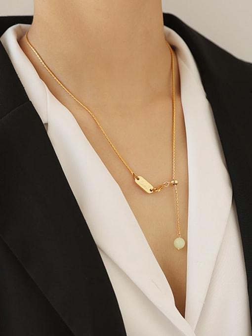 TINGS Brass Geometric Minimalist Necklace 3