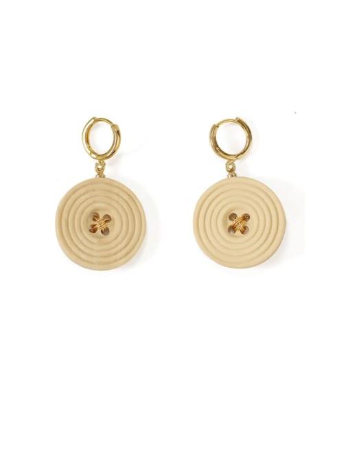 Five Color Alloy Enamel Geometric Cute Huggie Earring 0
