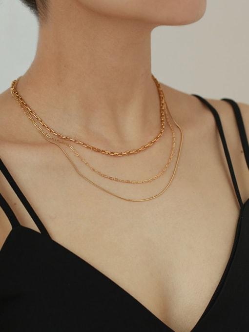 Five Color Brass Geometric Minimalist Choker Necklace 1