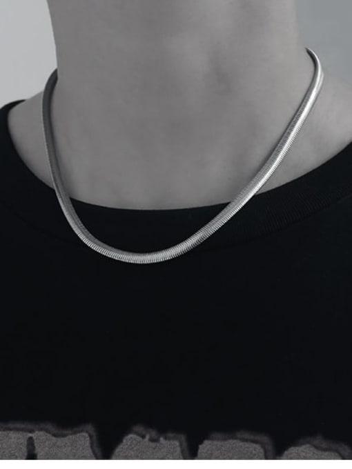 TINGS Brass Snake Minimalist Necklace 2