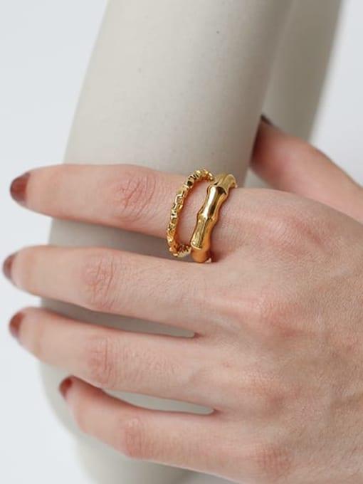 TINGS Brass Geometric Vintage Band Ring 1