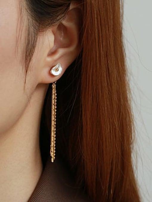 ACCA Brass Tassel Vintage Single Earring 1