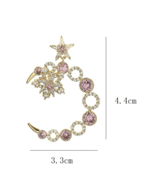 SUUTO Brass Cubic Zirconia Geometric Luxury Stud Earring 2