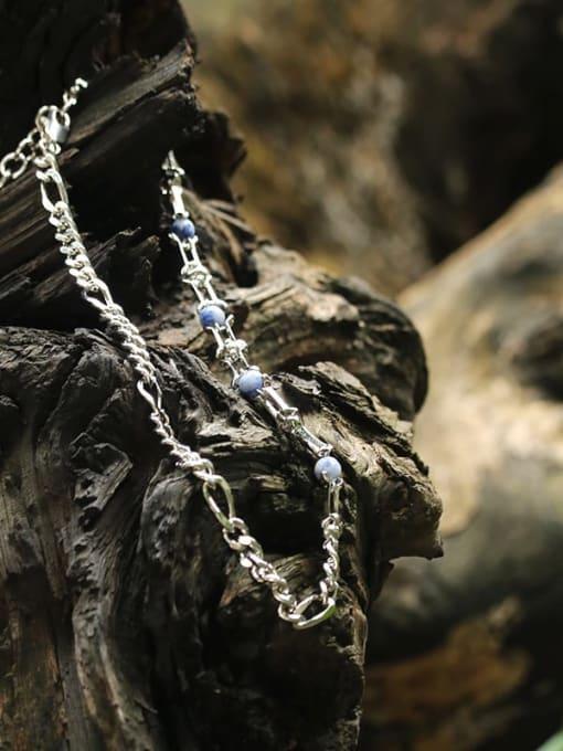 TINGS Brass Cloisonne Geometric Vintage Necklace
