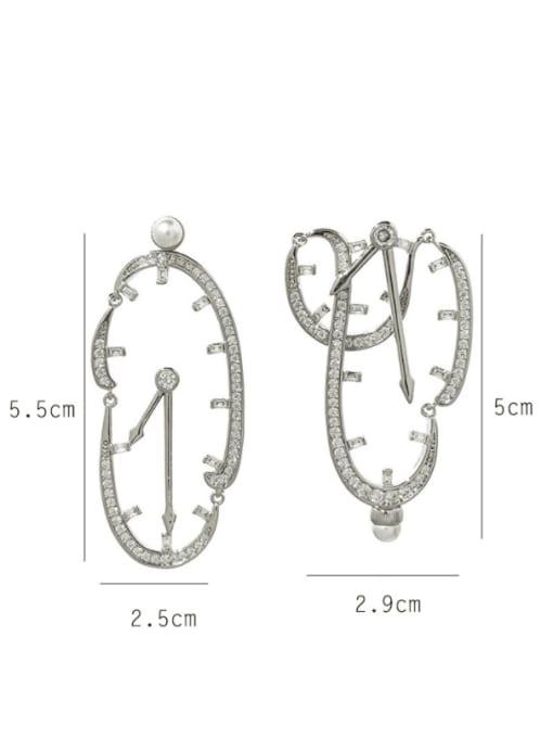 SUUTO Brass Cubic Zirconia Irregular Statement Drop Earring 1
