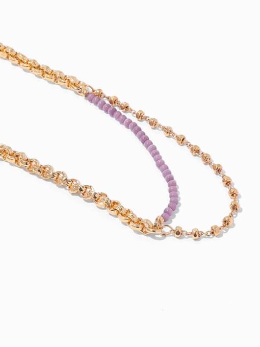 TINGS Brass Cubic Zirconia Geometric Minimalist Strand Bracelet 3