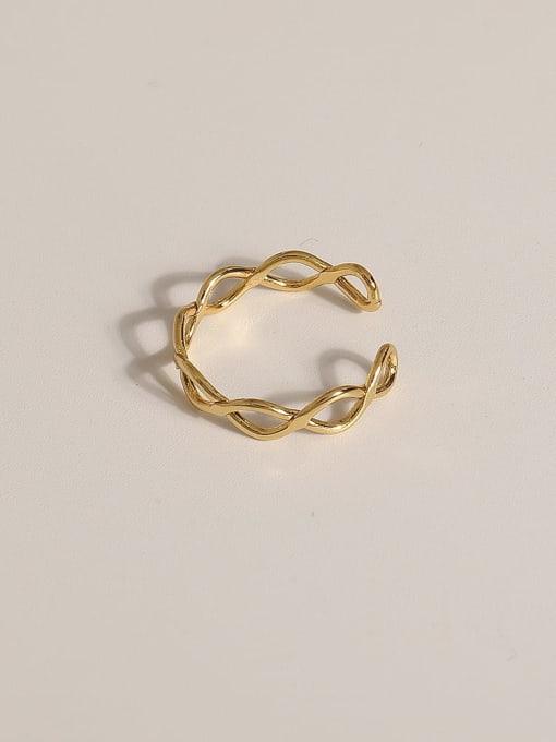 JZ097 Brass Geometric Vintage Band Ring