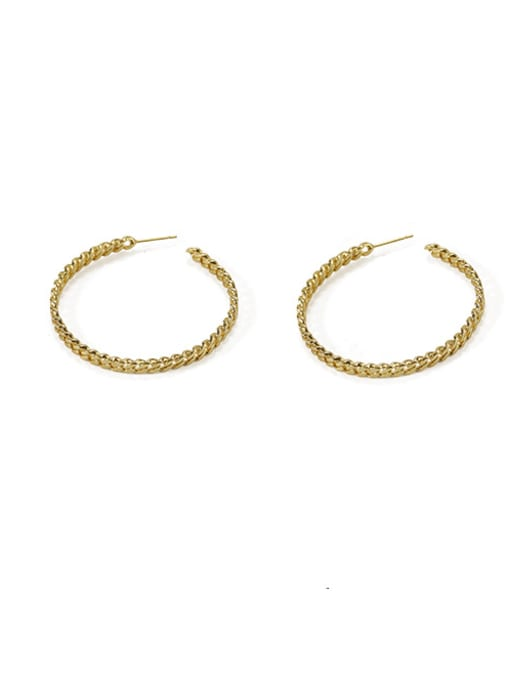Item 2 Brass  Geometric Vintage  C shape Hoop Earring