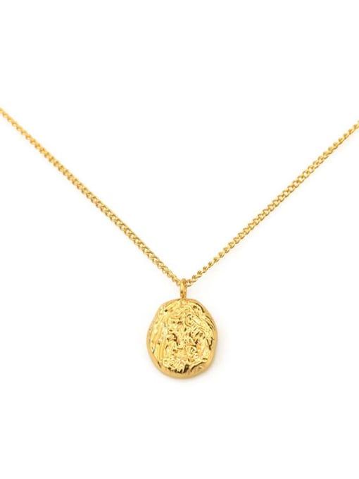 ACCA Titanium Geometric concave Vintage pendant Necklace