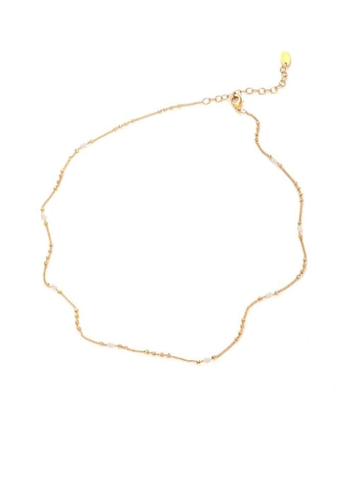 Five Color Brass Minimalist  Line Chain Necklace