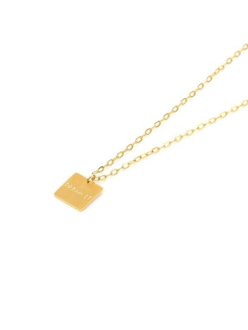 Titanium steel necklace Brass Cubic Zirconia Geometric Vintage Necklace