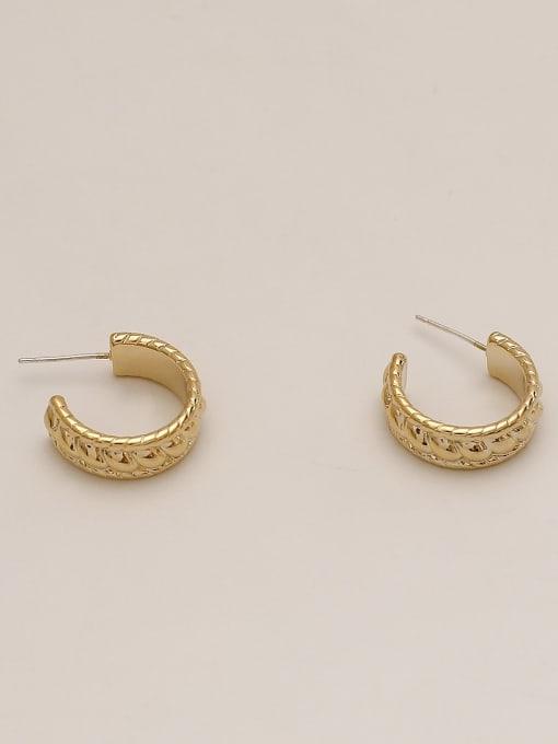 HYACINTH Brass Geometric Ethnic Stud Earring 3